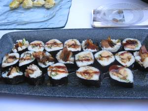 Eel and Foi Gras sushi