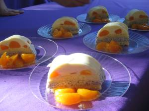 Tangerine mousse from The Wilshire